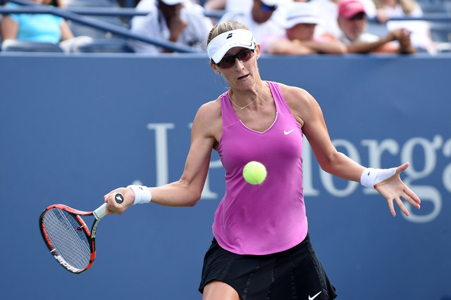 August 31, 2016 - Mirjana Lucic-Baroni in action against Angelique Kerber  during the 2016 US Open at the USTA Billie Jean King National Tennis Center in Flushing, NY.