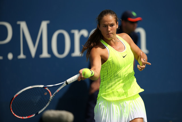 August 30, 2016 - Daria Kasatkina in action against Qiang Wang during the 2016 US Open at the USTA Billie Jean King National Tennis Center in Flushing, NY.