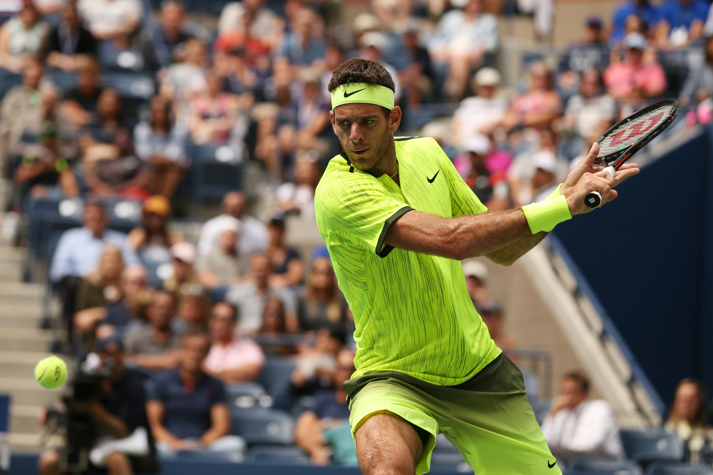 September 5, 2016 - Juan Martin del Potro in action against Dominic Thiem during the 2016 US Open at the USTA Billie Jean King National Tennis Center in Flushing, NY.
